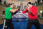 02.12.2014, Schlosshoefe, Oldenburg, WBA-Weltmeisterschaft im Halbschwergewicht  Pawel Glazewski (PL) vs Juergen Braehmer (GER) -  Training, im Bild<br /> Juergen Braehmer (GER) und Trainer Karsten Röwer ( Juergen Braehmer)<br /> <br /> Foto © nordphoto / Kokenge