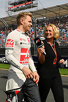 March 26, 2017: Kevin Magnussen (DEN) #20 from the Haas F1 Team walks back to the pits after the drivers' parade at the 2017 Australian Formula One Grand Prix at Albert Park, Melbourne, Australia. Photo Sydney Low
