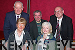 Meeting up in Kirby's Lanterns Hotel on Saturday night for Fr. Tommy O'Hanlon's fundraising buffet in aid of his mission to Pakistan were Maureen Dowling and Bernie O'Neill, with John Dowling, Jimmy Joy and Eddie Cunningham.   Copyright Kerry's Eye 2008