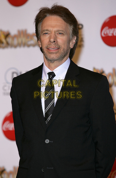 JERRY BRUCKHEIMER .SHOWEST Final Night Talent Awards at the Paris Resort Hotel and Casino,  Las Vegas, Nevada , USA,.18th March 2010..half length  black suit tie beard facial hair white shirt .CAP/ADM/MJT.© MJT/AdMedia/Capital Pictures.