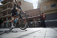 Nicolas Roche (IRL/SKY) on the way to sign-in<br /> <br /> stage 18: Roa - Riaza (204km)<br /> 2015 Vuelta &agrave; Espana