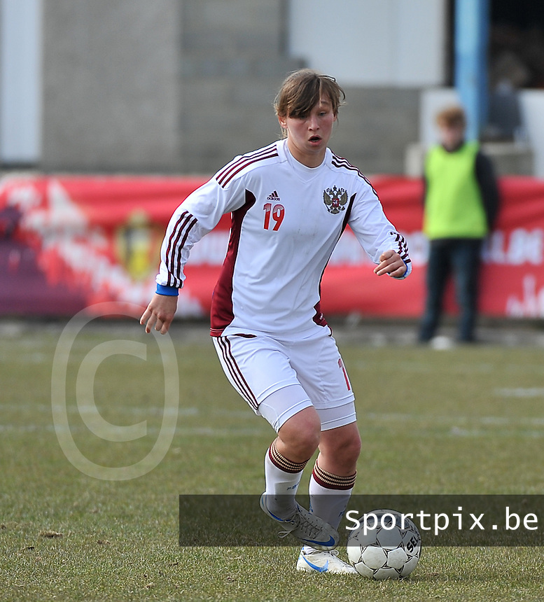 Switzerland U19 - Russia U19 : Alena Zhizhova.foto DAVID CATRY / Nikonpro.be