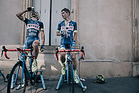 Guillaume Martin (FRA/Wanty-Groupe Gobert) &amp; Marco Minnaard (NED/Wanty-Groupe Gobert) warming down after the stage<br /> <br /> 104th Tour de France 2017<br /> Stage 16 - Le Puy-en-Velay &rsaquo; Romans-sur-Is&egrave;re (165km)