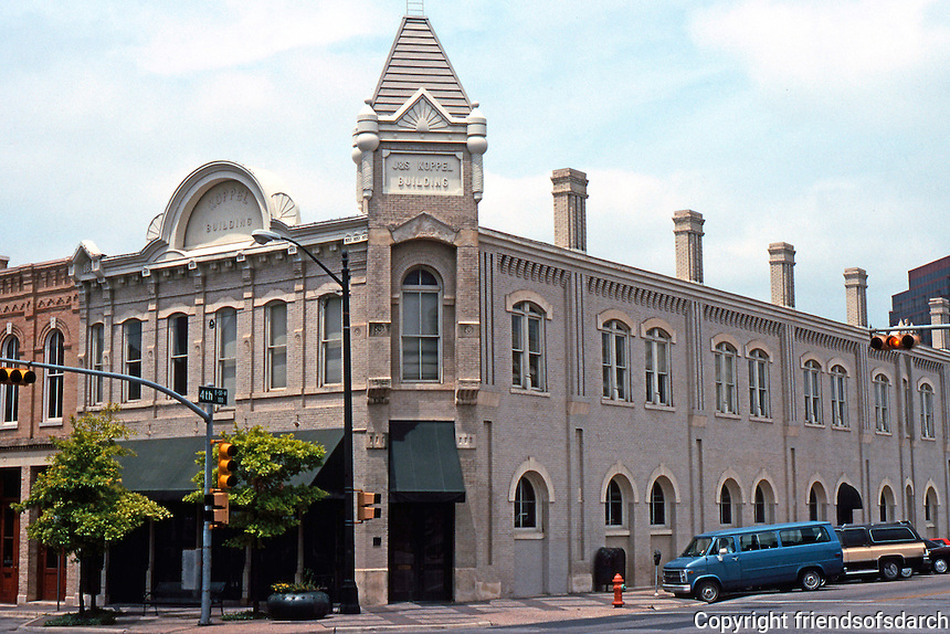 Austin:  J & S Koppel Bldg., 300 block Congress. Note chimneys on 4th St. side.