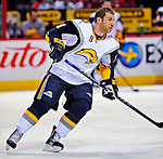 20 December 2008: Buffalo Sabres' center Derek Roy warms up prior to facing the Montreal Canadiens at the Bell Centre in Montreal, Quebec, Canada. With both teams coming off wins, the Canadiens extended their winning streak by defeating the Sabres 4-3 in overtime. ***** Editorial Sales Only ***** Mandatory Photo Credit: Ed Wolfstein Photo