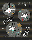 Dreams, CHRISTMAS ANIMALS, WEIHNACHTEN TIERE, NAVIDAD ANIMALES, paintings+++++,MEDAX73/3,#XA#