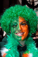 Eva Gugliemo age 18 from Mahopac, NY. 246th Saint Patrick's Day Parade,  marches up 5th Avenue,  March 17, 2007.  (© Frances Roberts)