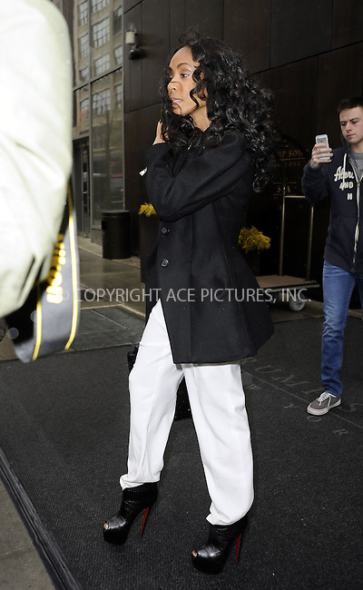 WWW.ACEPIXS.COM....February 27 2013, New York City....Jada Pinkett Smith leaving her Soho Hotel on February 27 2013 in New York City......By Line: Curtis Means/ACE Pictures......ACE Pictures, Inc...tel: 646 769 0430..Email: info@acepixs.com..www.acepixs.com