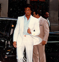 Sylvester Stallone Arrives For<br /> ABC TV Interview In NYC By<br /> Jonathan Green