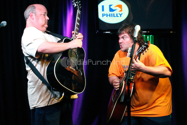 Tenacious D visit Radio 104.5's iHeart Radio Performance Theater in Bala Cynwyd, Pa on June 30, 2012  © Star Shooter / MediaPunchInc