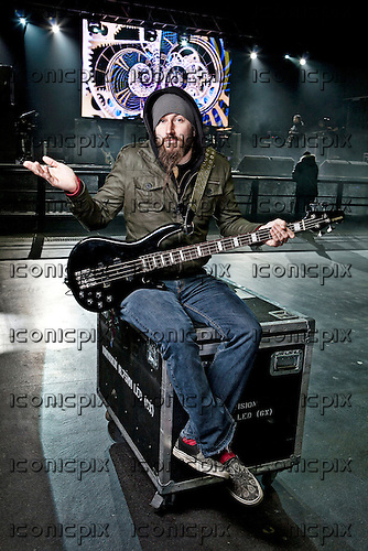 Mastodon - vocalist bass player Troy Sanders - photographed at the Academy in Manchester UK - Feb 20, 2010.  Photo: © Ashley Maile/IconicPix  *PREMIUM COLLECTION* *HIGHER RATES APPLY*