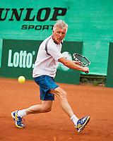 Netherlands, Amstelveen, August 18, 2015, Tennis,  National Veteran Championships, NVK, TV de Kegel,  Peter Gerritsen<br /> Photo: Tennisimages/Henk Koster