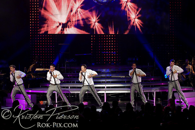 New Kids on the Block perform at Comcast Center in Massachusetts on June 18, 2009