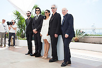 US producer Carter Logan, US actor Adam Driver, French-Iranian actress Golshifteh Farahani, US director Jim Jarmusch and US producer Joshua Astrachan - CANNES 2016 - PHOTOCALL DU FILM 'PATERSON'