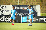 (L-R) Yuto Nagatomo, Keisuke Honda (JPN), JUNE 12, 2014 - Football / Soccer : Japan's national soccer team training session at Japan's team base camp in Itu Brazil. (Photo by Kenzaburo Matsuoka/AFLO)