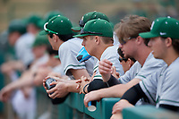 Dartmouth Big Green Tyler Fagler (cup) in the dugout during a game against the USF Bulls on March 17, 2019 at USF Baseball Stadium in Tampa, Florida.  USF defeated Dartmouth 4-1.  (Mike Janes/Four Seam Images)
