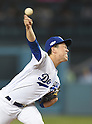 Kenta Maeda (Dodgers),<br /> OCTOBER 20, 2016 - MLB :<br /> Kenta Maeda of the Los Angeles Dodgers pitches during the game five of the National League Championship Series against the Chicago Cubs on October 20, 2016, at Dodger Stadium in Los Angeles, CA. (Photo by AFLO)