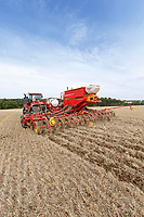 Direct drilling oil seed rape - Essex, August