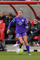 Bridgeview, IL, USA - Sunday, May 1, 2016: Orlando Pride defender Stephanie Catley (7) during a regular season National Women's Soccer League match between the Chicago Red Stars and the Orlando Pride at Toyota Park. Chicago won 1-0.