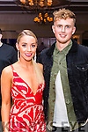 Laura Flaherty and Aaron O'Shea pictured at the John Mitchel's Strictly Come Dancing at the Ballygarry House Hotel on Sunday night.