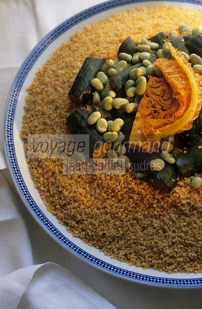 "Europe/France/Ile-de-France/Paris : Restaurant ""La Mansouria"" - Service des couscous - Couscous vert"