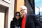 General Hospital's cast - Tony Geary & Kelly Monaco taped Katie Couric's Talk Show on April 2, 2013 in New York City, New York. Fans came to the show and were outside the studio to greet the actors as they left. (Photo by Sue Coflin/Max Photos)