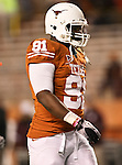 Texas Longhorns defensive tackle Kheeston Randall (91) in action during the Texas A & M vs. Texas Longhorns football game at the Darrell K Royal - Texas Memorial Stadium in Austin, Tx. Texas A & M defeats Texas 24 to 17....