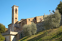 Church Tower in Colle Di Val D'Elsa - Tuscany, Italy.