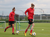 20200605 - TUBIZE , Belgium : Chloe Vande Velde (left) and Helen Jacques (right)running with the ball during a training session of the Belgian national women's soccer team called the Red Flames during their after Corona – Covid training week, on the 5 th of June 2020 in Tubize.  PHOTO SEVIL OKTEM| SPORTPIX.BE