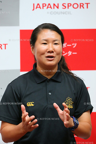 Keiko Asami, <br /> SEPTEMBER 14, 2013 : <br /> National talent identification and development project <br /> First shot &quot;Tall x Speed x Women&quot; <br /> at JISS, Tokyo, Japan. <br /> (Photo by YUTAKA/AFLO SPORT) [1040]
