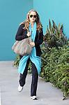 April 26th 2012..Elizabeth Berkley leaves Pilates in West Hollywood.pregnant wearing long blue scarf ..AbilityFilms@yahoo.com.805-427-3519.www.AbilityFilms.com.