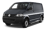 2015 Volkswagen Transporter 2.0 Tdi Bvm6 4 Door Cargo Van Angular Front stock photos of front three quarter view