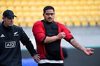 NZ's Ofa Tuungafasi. All Blacks training at Westpac Stadium in Wellington, New Zealand on Thursday, 14 June 2018. Photo: Dave Lintott / lintottphoto.co.nz