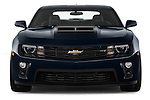 Car photography straight front view of a 2015 Chevrolet Camaro ZL1 Coupe 2 Door  Front View