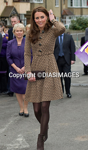 """CATHERINE, DUCHESS OF CAMBRIDGE .as Patron of Art Room visits the Oxford Spires Academy School, Oxford_21/02/2012.MANDATORY PHOTO CREDIT:©Dias/DIASIMAGES - NEWSPIX INTERNATIONAL..Mandatory credit photo:DiasImages/NEWSPIX INTERNATIONAL(Failure to credit will incur a surcharge of 100% of reproduction fees)..                **ALL FEES PAYABLE TO: """"NEWSPIX INTERNATIONAL""""**..IMMEDIATE CONFIRMATION OF USAGE REQUIRED:.DiasImages, 31a Chinnery Hill, Bishop's Stortford, ENGLAND CM23 3PS.Tel:+441279 324672  ; Fax: +441279656877.Mobile:  07775681153.e-mail: info@newspixinternational.co.uk"""