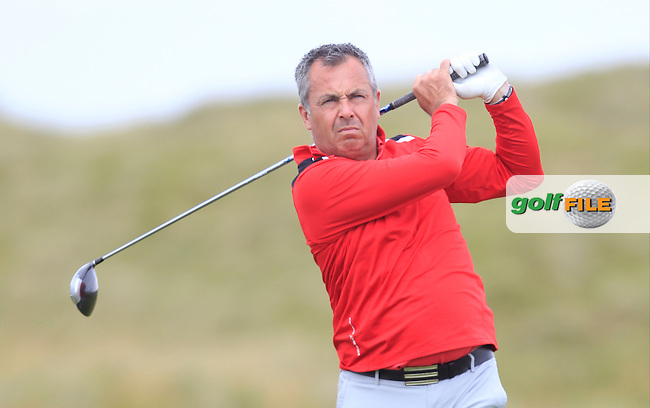 Pat Murray (Limerick) on the 2nd tee during Matchplay Round 4 of the South of Ireland Amateur Open Championship at LaHinch Golf Club on Saturday 25th July 2015.<br /> Picture:  Golffile | TJ Caffrey