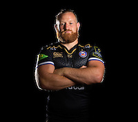 Ross Batty poses for a portrait in the 2015/16 European kit during a Bath Rugby photocall on September 8, 2015 at Farleigh House in Bath, England. Photo by: Patrick Khachfe / Onside Images