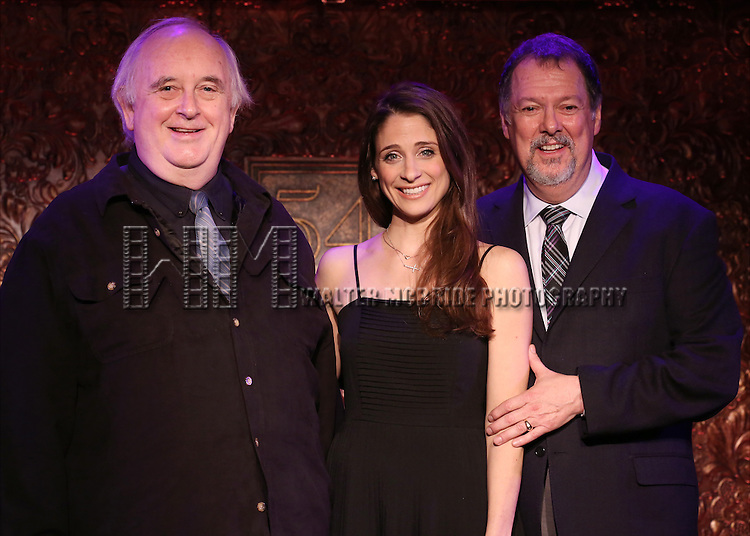 "Skip Kennon, Elena Shaddow and Eric Michael Gillett perform A Special Press Preview of their upcoming show ""54 Below Swings Time and Again""  at 54 Below on April 4, 2014 in New York City."