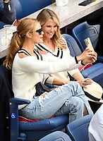FLUSHING NY- SEPTEMBER 10: Nina Agdal and Christie Brinkley at the US Open Men's Final Championship match at the USTA Billie Jean King National Tennis Center on September 10, 2017 in Flushing, Queens. <br /> CAP/MPI/PAL<br /> &copy;PAL/MPI/Capital Pictures