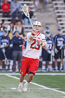 College Park, MD - March 18, 2017: Maryland Terrapins Adam DiMillo (23) makes a pass during game between Villanova and Maryland at  Capital One Field at Maryland Stadium in College Park, MD.  (Photo by Elliott Brown/Media Images International)