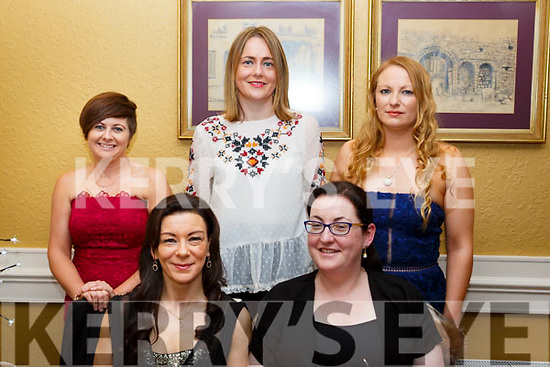 Girls night out in the Brogue Inn. Seated L-r, Marie McKenna and Evelenn Quill. Back l-r, Paulette O'Halloran, Hannah McCarthy and Margaret Kelliher Sarragher.