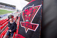 Picture by Allan McKenzie/SWpix.com - 04/03/2017 - Rugby League - Betfred Super League - Salford Red Devils v Warrington Wolves - AJ Bell Stadium, Salford, England - Salford fans, supporters, scarves.