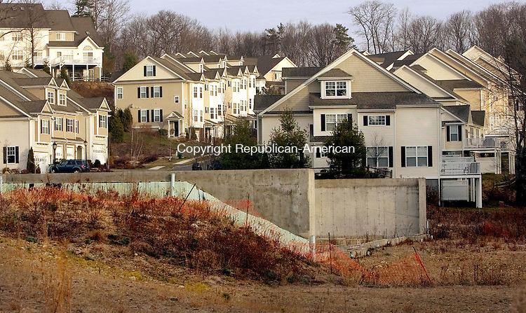 MIDDLEBURY, CT. 07 December 2012-120712SV02-A view of foundations not being developed at The Ridgewood Development in Middlebury Friday. The development may be sold to Toll Brothers. .Steven Valenti Republican-American