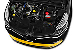 Car stock 2018 Renault Clio RS Final Edition 5 Door Hatchback engine high angle detail view