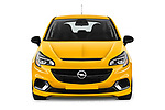Car photography straight front view of a 2019 Opel Corsa GSI 3 Door Hatchback Front View