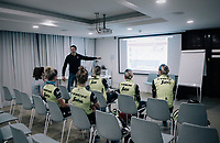 pre-training meeting<br /> <br /> Team Trek-Segafredo women's team<br /> training camp<br /> Mallorca, january 2019<br /> <br /> &copy;kramon