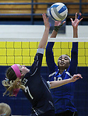 Southfield Christian falls to Fowler 3-0 in Class D quarterfinal volleyball action at Goodrich High School Tuesday, Nov. 14, 2017. (For The Oakland Press / LARRY McKEE)