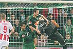 12.03.2018, Weser Stadion, Bremen, GER, 1.FBL, Werder Bremen vs 1.FC Koeln, im Bild<br /> Thomas Delaney (Werder Bremen #6)<br /> Timo Horn (Koeln #01)<br /> Theodor Gebre Selassie (Werder Bremen #23)<br /> Foto &copy; nordphoto / Kokenge