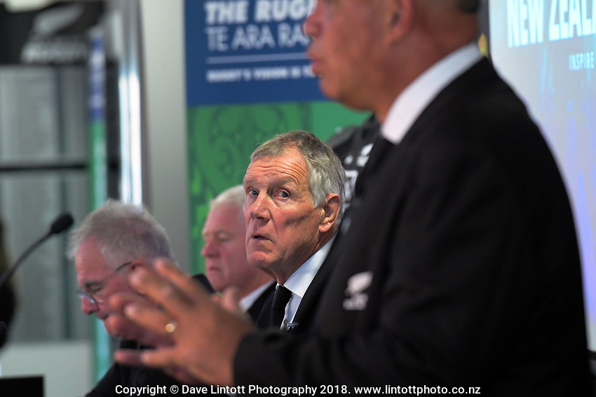 Outgoing NZ Rugby president Maurice Trapp. The 2019 New Zealand Rugby Annual General Meeting at the New Zealand Rugby House in Wellington, New Zealand on Wednesday, 17 April 2019. Photo: Dave Lintott / lintottphoto.co.nz