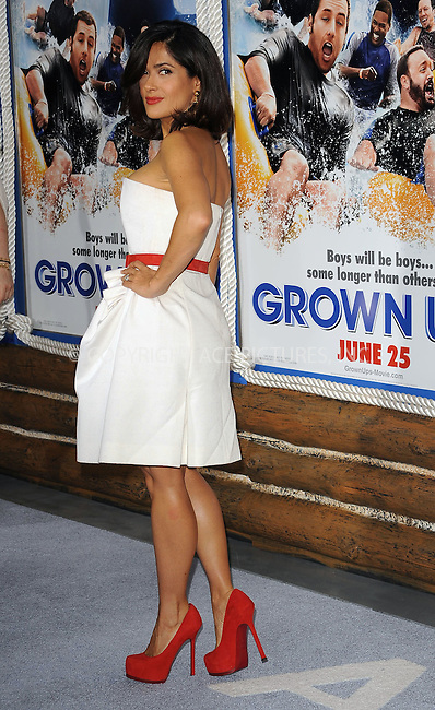 WWW.ACEPIXS.COM . . . . . ....June 23 2010, New York City....Salma Hayek at the premiere of 'Grown Ups' at the Ziegfeld theatre on June 23 2010 in New York City....Please byline: KRISTIN CALLAHAN - ACEPIXS.COM.. . . . . . ..Ace Pictures, Inc:  ..(212) 243-8787 or (646) 679 0430..e-mail: picturedesk@acepixs.com..web: http://www.acepixs.com